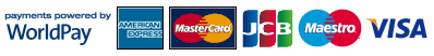 We accept the following credit or debit cards